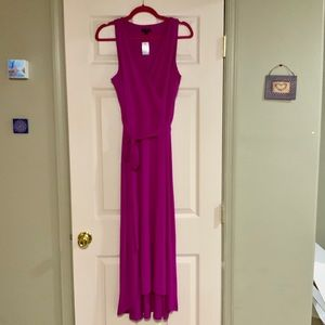 BNWT Ann Taylor fuchsia dress size medium petite